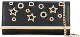 Philipp Plein star crossbody clutch - women - Leather/Metallic Fibre - One Size