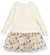 Charabia Knit Top Over Star Tulle Skirt Dress, Size 2-4