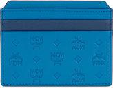 Mcm Sigmund Embossed Logo Leather Card Holder