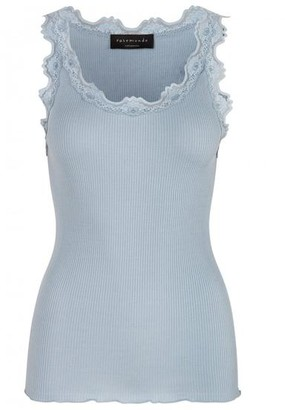 Rosemunde Silk Lace Top Blue Fog - S