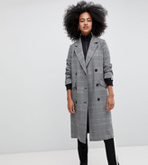 Monki check tailored lightweight coat in gray