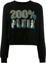 Philipp Plein cropped sweatshirt - women - Cotton - S