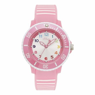S'Oliver Girl's Analogue Quartz Watch with Silicone Strap SO-4247-PQ
