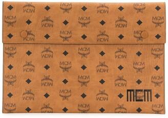 MCM Tri Pouch logo clutch