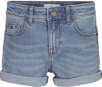 Tommy Hilfiger Girls Nora Denim Shorts - Light Blue