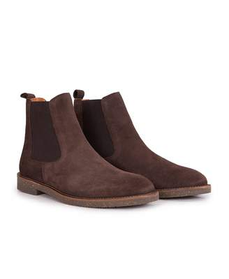 H By Hudson Karter Suede Chelsea Boots Colour: BROWN, Size: UK 7