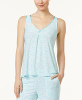Alfani Loop-Front Printed Pajama Tank Top, Created for Macy's