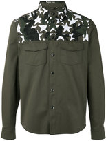Valentino Camustar yoke insert shirt - men - Cotton/Polyester - 46