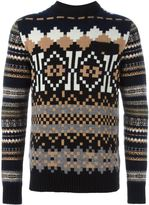 Sacai pixel intarsia knit jumper - men - Wool - 2