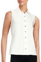 Tommy Hilfiger Button-Down Sleeveless Blouse