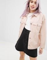 Monki Oversized Coloured Denim Jacket