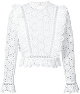 Zimmermann open embroidered blouse