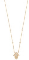 Jacquie Aiche Hamsa Hand Diamond Necklace