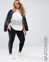 Asos Leggings with Mesh Side Insert