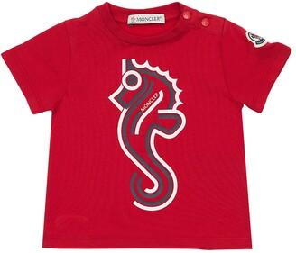 Moncler Seahorse Print Cotton Jersey T-Shirt