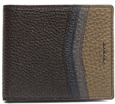 Fendi Stitch-embellished Bi-fold Leather Wallet