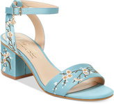 Nanette Lepore Nanette by Ruby Two-Piece Block-Heel Sandals, Only at Macy's