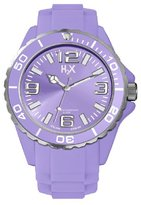 Haurex H2X Women's SL382DL1 Reef Luminous Water Resistant Lavender Soft Rubber Watch