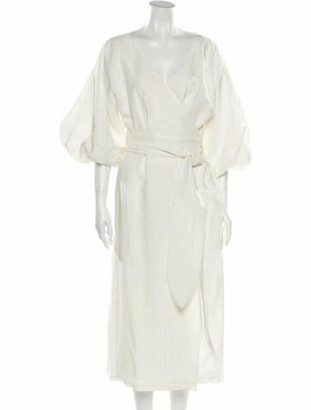 Mara Hoffman Francesca Hemp Long Dress w/ Tags White