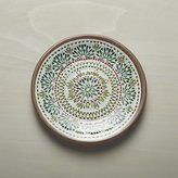 Crate & Barrel Caprice Holiday Melamine Plate