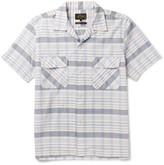 Beams Camp-Collar Checked Cotton-Dobby Shirt