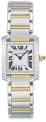 Cartier Tank Francaise Small Stainless Steel & 18K Yellow Gold Bracelet Watch