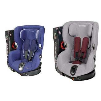 Maxi-Cosi Axiss Group 1 Car Seat (River Blue) and Summer Cover (Cool Grey) Bundle