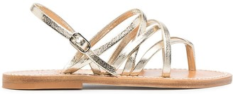 K. Jacques Metallic-Effect Leather Sandals