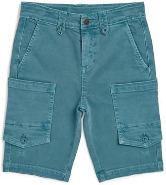 Stella McCartney Washed Denim Combat Shorts