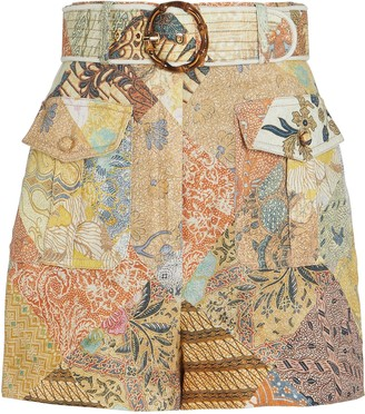 Zimmermann Wavelength Piped Floral Shorts