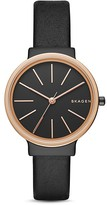 Skagen Ancher Leather Strap Watch, 30mm