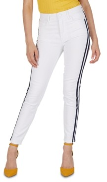 Numero High-Rise Side-Stripe Skinny Jeans