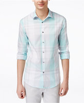 Alfani Men's Big & Tall Derby Plaid Long-Sleeve Shirt, Only at Macy's