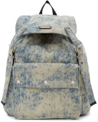 Saint Laurent Blue Denim Noe Backpack