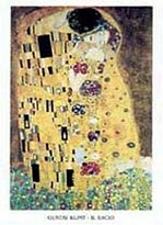 Gustav 1art1 Posters Klimt Poster Art Print - The Kiss, 1908 (16 x 12 inches)