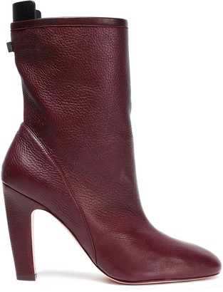 Stuart Weitzman Leather-trimmed Suede Ankle Boots
