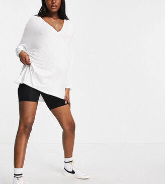 ASOS DESIGN Maternity anti-chafing shorts in black