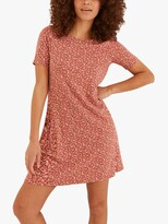 Thumbnail for your product : Fat Face FatFace Simone Ditsy Floral Print Jersey Dress, Dusty Pink