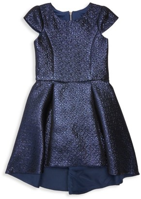 Zoe Girl's Hannah Metallic Brocade Dress