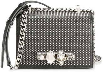 Alexander McQueen Small Skull Jewelled Studded Leather Satchel