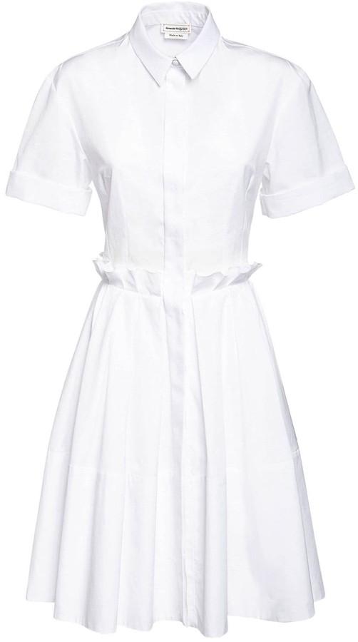 Alexander McQueen Cotton Poplin Shirt Dress