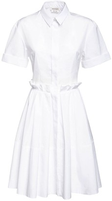 Alexander McQueen Cotton Poplin Shirt Dress