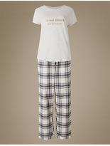 M&S Collection Printed Short Sleeve Pyjamas