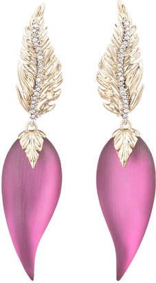 Alexis Bittar Feather Post Drop Earrings