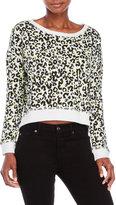 True Religion Neon Leopard Print Sweatshirt