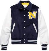 Noah Golden Bear Appliquéd Cotton-Corduroy and Leather Jacket