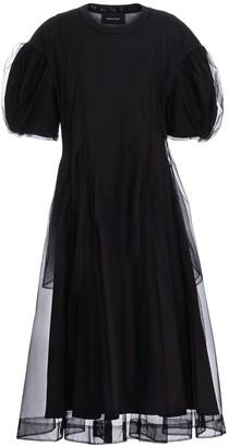 Simone Rocha Cotton and tulle midi dress