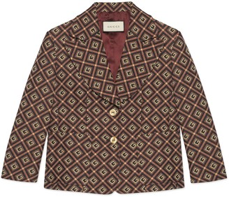 Gucci GG damier jacquard jacket