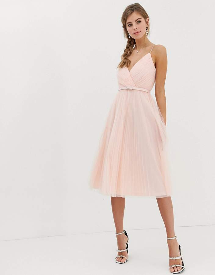 6a458a03d50 Pink Pleated Midi Dress - ShopStyle UK