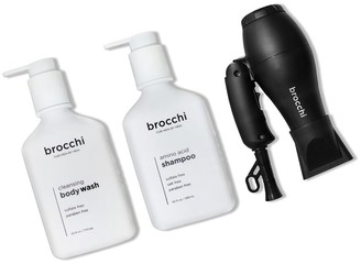 Sebastian Brocchi Brocchi Travel Hair Dryer, Amino Acid Shampoo & Cleansing Body Wash Bundle